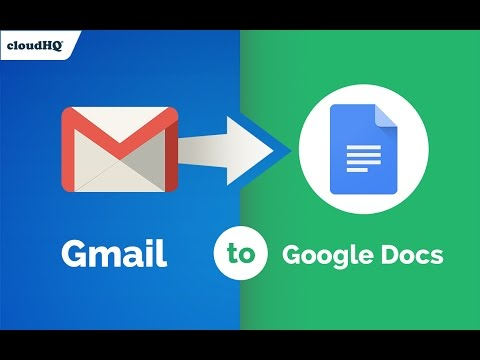 Free! Save Gmail to Google Docs