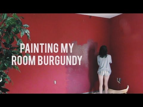 painting my room BURGUNDY!! (part 1)