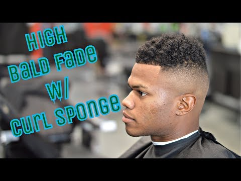 Barber Tutorial: High Bald Fade With Curl Sponge