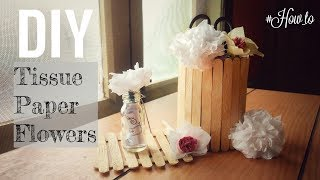 Download How to make DIY Tissue paper(or napkin) flowers. #How To #DIY Video