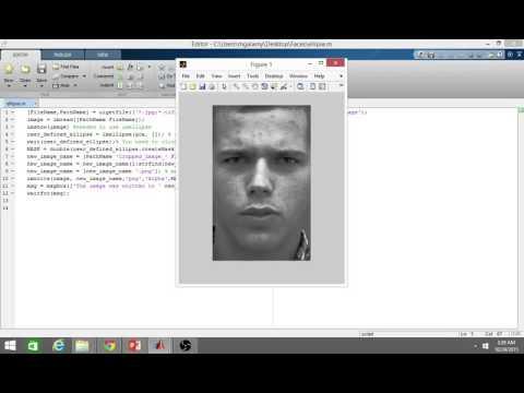 Ellipse Shaped Image Cropping using MATLAB