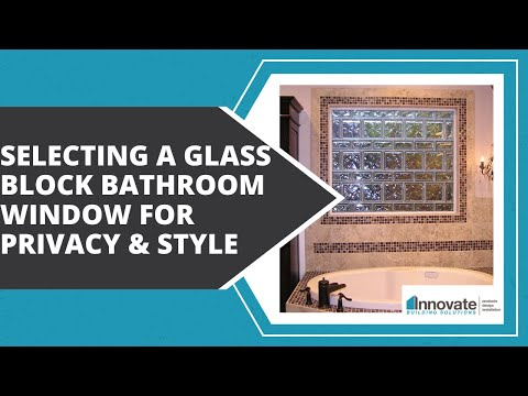 Selecting a Glass Block Bathroom Window, Acrylic Block Shower Window for Privacy Style Columbus Ohio