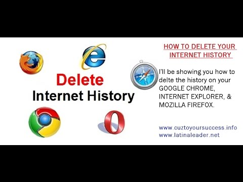 HOW TO CLEAR YOUR WEB BROWSER HISTORY ON YOUR IE, GOOGLE CHROME, MOZILLA BROWSER
