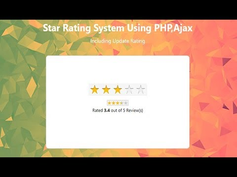 Star Rating System Using Php Ajax