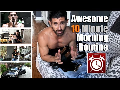 The ULTIMATE 10 Min Morning Routine | Tricks To Get Ready FASTER & MORE Efficiently!