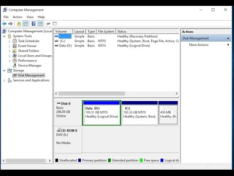 Windows 10 - Hướng Dẫn Chia Lại Ổ Đĩa, Quản Lý Ổ Cứng, Tạo và Xóa Phân Vùng