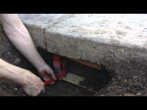 Lifting a Sunken Concrete Driveway Slab DIY