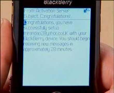 BlackBerry Internet Solution (BIS) Email Setup