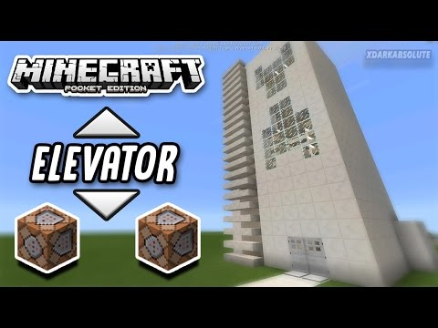 HOW TO MAKE AN ELEVATOR USING COMMAND BLOCKS IN MINECRAFT PE!! (Pocket Edition)