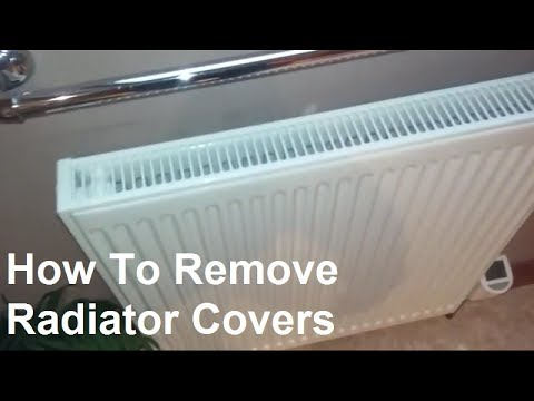 How To Remove Radiator Covers To Clean Behind