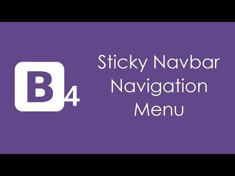 HTML5 Sticky Navigation Menu Using Bootstrap 4