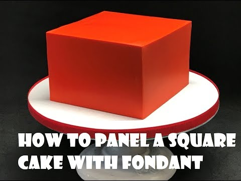 How to Panel a Square Cake with Fondant