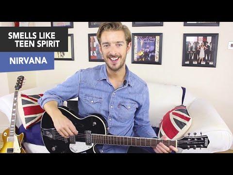 NIRVANA - Smells Like Teen Spirit Guitar Lesson Tutorial - EASY CHORDS