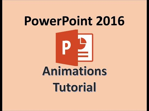 PowerPoint 2016 - Animation Slide Tutorial - How to Animate Slides - Make Animating Show in PPT 365