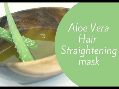 Hair Straightening Treatment with Aloe Vera