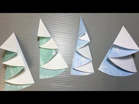 Origami Christmas Tree from Circular Paper #01
