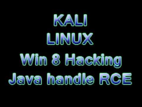 Kali Linux - Win 8 hacking Java applet handle RCE