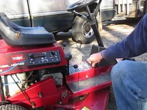 Troubleshoot lawn mower starter