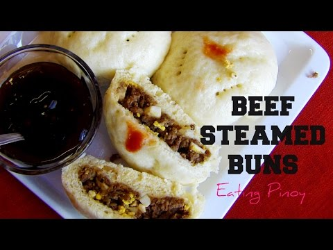 Steamed Beef Buns | Siopao Recipe | Eating Pinoy | Hungry for Goodies
