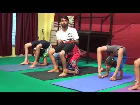 contortion/yoga training for extreme back bend poses