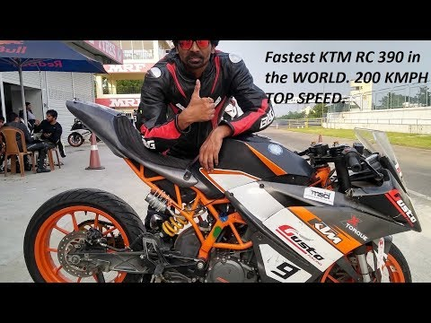 Fastest KTM RC 390 in the WORLD. 200 KMPH TOP SPEED.