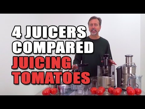 4 Juicers Compared Juicing Tomatoes