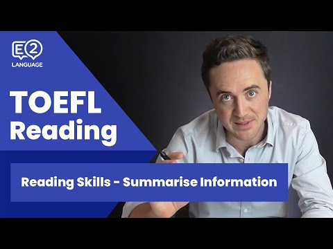 TOEFL Reading Skill 1: Summarize Information with Jay!