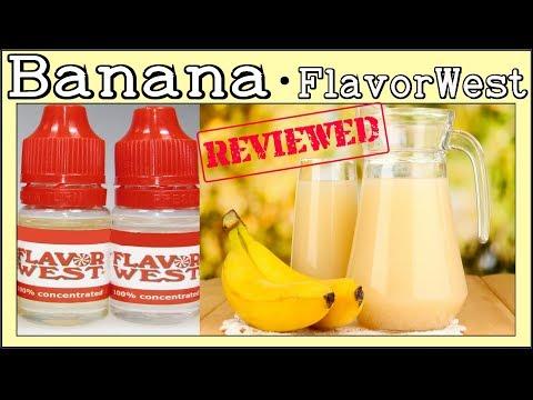 Banana Flavor West Review & Recipe [FW Banana Flavor Review and E liquid DIY]