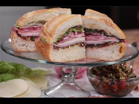Andrew Zimmern Cooks: Muffuletta Sandwich
