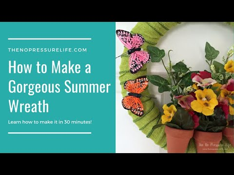 How to Make an Easy Butterfly Wreath for Spring or Summer!