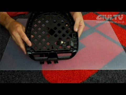 How to fit a universal plate which comes with a GIVI Monolock Top Case