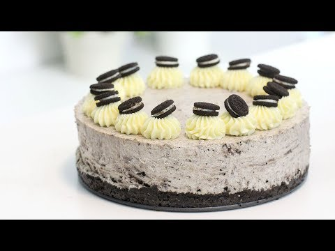 GELATIN-FREE Cookies and Cream No-Bake Cheesecake | Cookies & Cream Cheesecake | RECIPE