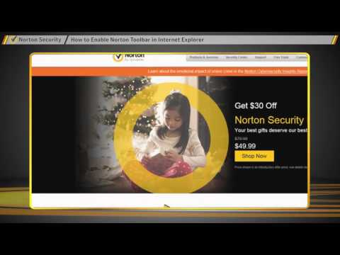 How To  Enable Norton Toolbar in Internet Explorer