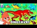 Dinosaurs For Kids Learn Dinosaur Names For Children Triceratops Velociraptor Club Baboo