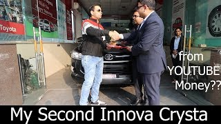 Taking Delivery of TOYOTA INNOVA CRYSTA 2.4 Gx MT (IMB) it's me Bishnoi