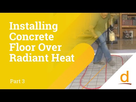 How to install Self-leveling Concrete over Radiant Heating? Part 3/3