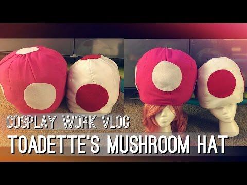 Toadette/Mushroom Hat - Cosplay Work Vlog   Super Mario Brothers    shainadilla