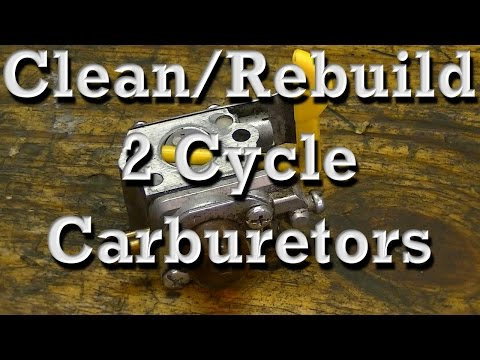 How to Clean / Rebuild Walbro & Zama 2 Cycle Carburetors on Chainsaws & Trimmers