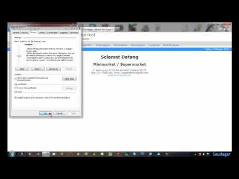 Setting Browser Internet Explorer