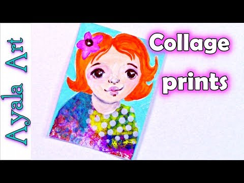 💡 What to do with gelli printed papers | what to do with monoprints | using collage paper
