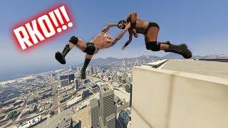 GTA 5 WRESTLING LIKE IN WWE #14 (RKO, Stunner, Powerbomb, and more!)