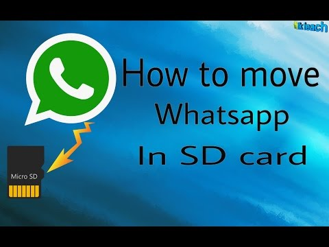 how to move whatsapp in sd card