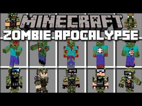 Minecraft ZOMBIE APOCALYPSE MOD / DEFEND AND FIGHT OFF EVIL ZOMBIES!! Minecraft Mods