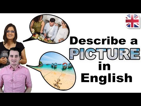 How to Describe a Picture in English - Describe an Image - Spoken English Lesson