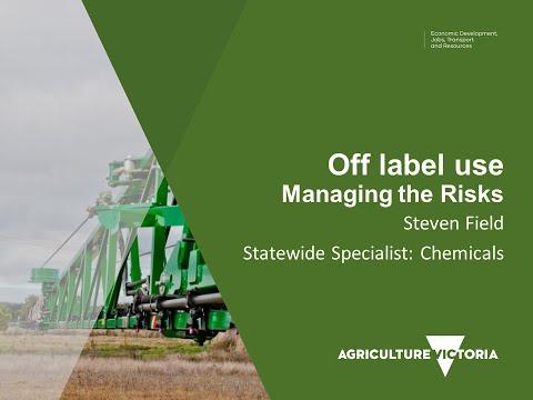 Off label use - Managing the risks - June 20, 2016