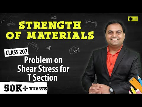 Problem on shear stress for T-section.