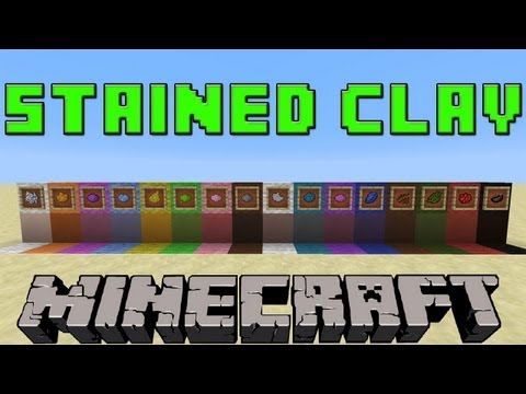 How To Make Stained/Colored Clay in Minecraft | 1.7.9 Update