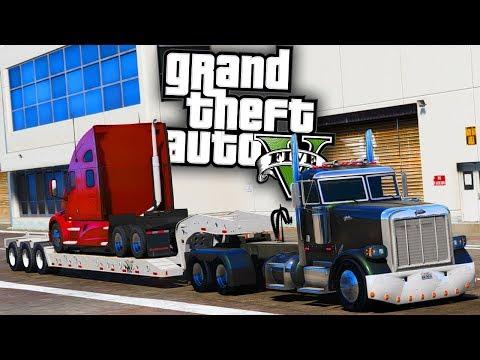 Semi Truck Hauling! - GTA 5 Real Hood Life 2 - Day 50
