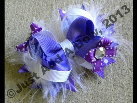 HOW TO: Make a 4 Inch Basic Boutique Stacked Hair Bow Tutorial by Just Add A Bow
