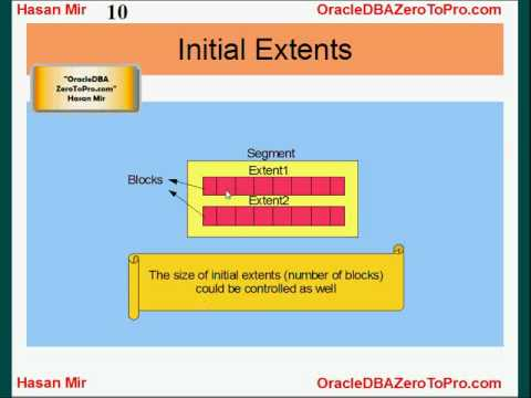 Oracle DBA - Extents and Segments
